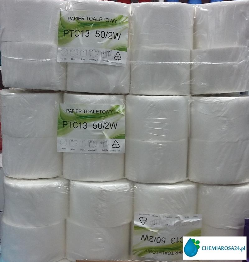 Papier toaletowy 2 warstwowy celuloza 50 mb 24 rolki