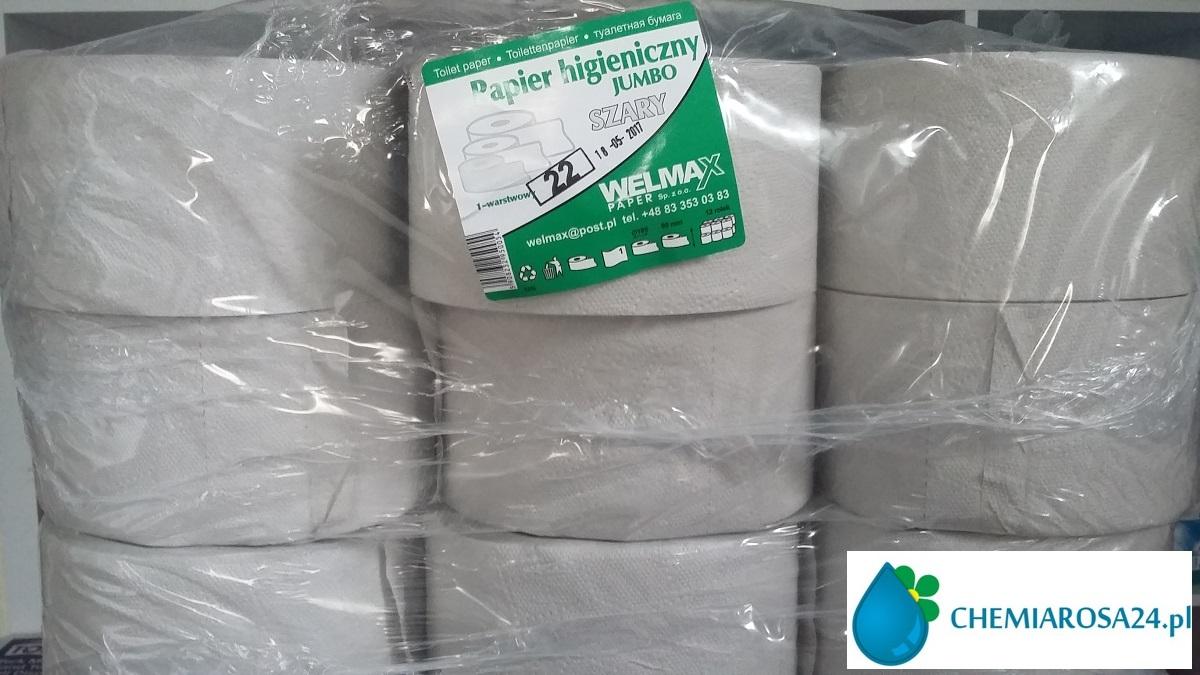 Papier toaletowy jumbo Welmax szary makulaturowy dobrej jakosci