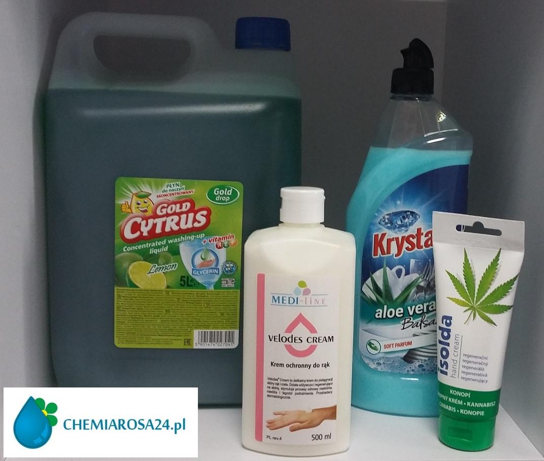 Płyn do mycia naczyń krem do rak Medi-line isolda Rzeszów chemiarosa24.pl