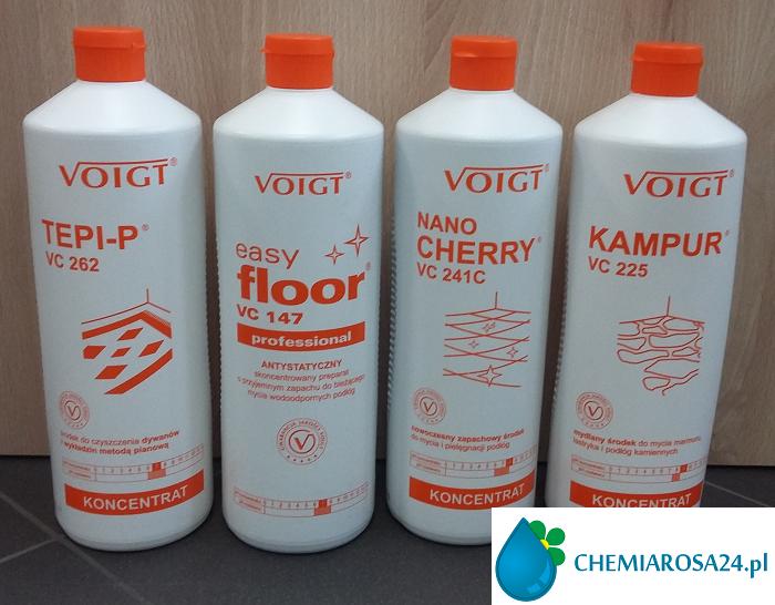 Płyn do mycia podłogi i prania dywanów Voigt Tepi-P vc 262 Easy Floor vc 147 Nano Cherry vc 241C Kampur vc 225