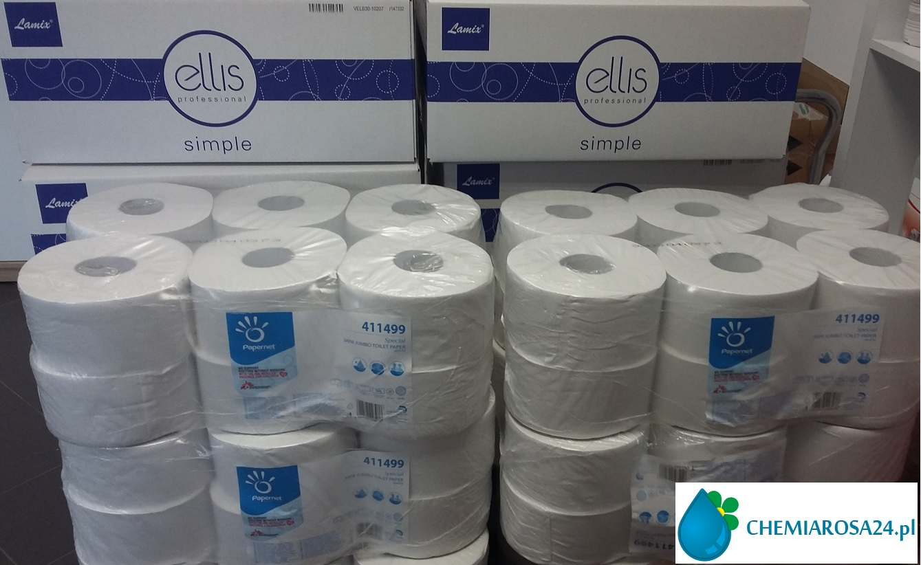 Ręczniki Lamix 3000 celuloza 2 warstwowa papier mini jumbo Papernet 411499 chemiarosa24