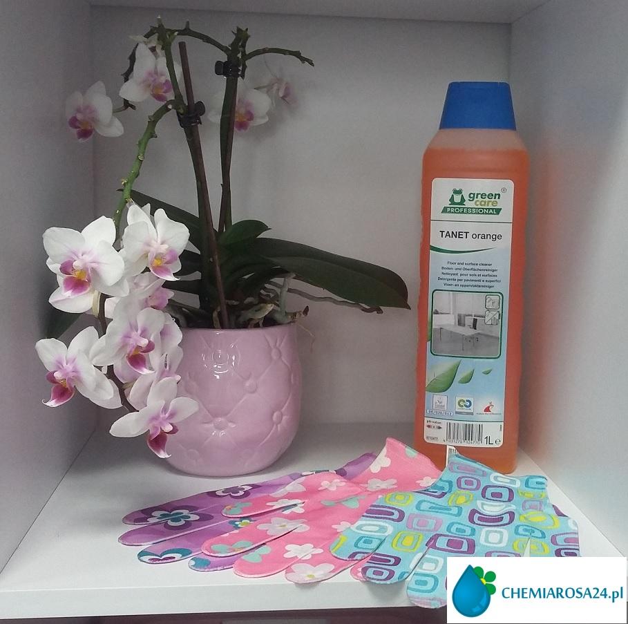 Rękawice do sprzątania środek do powierzchni Tanet orange chemiarosa24.pl