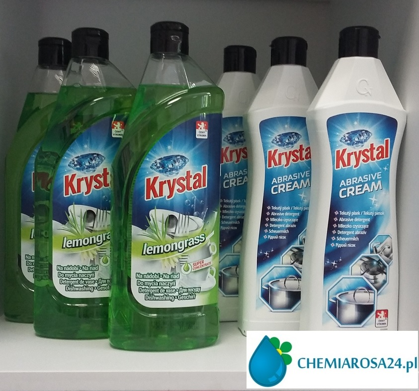Płyn do mycia naczyń i mleczko Krystal